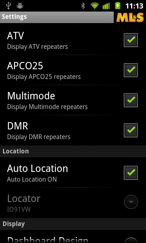 Repeater Settings